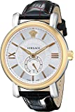 Versace Men's VNA020014 Urban Gent Gold Ion-Plated Automatic Watch with Black Leather Band