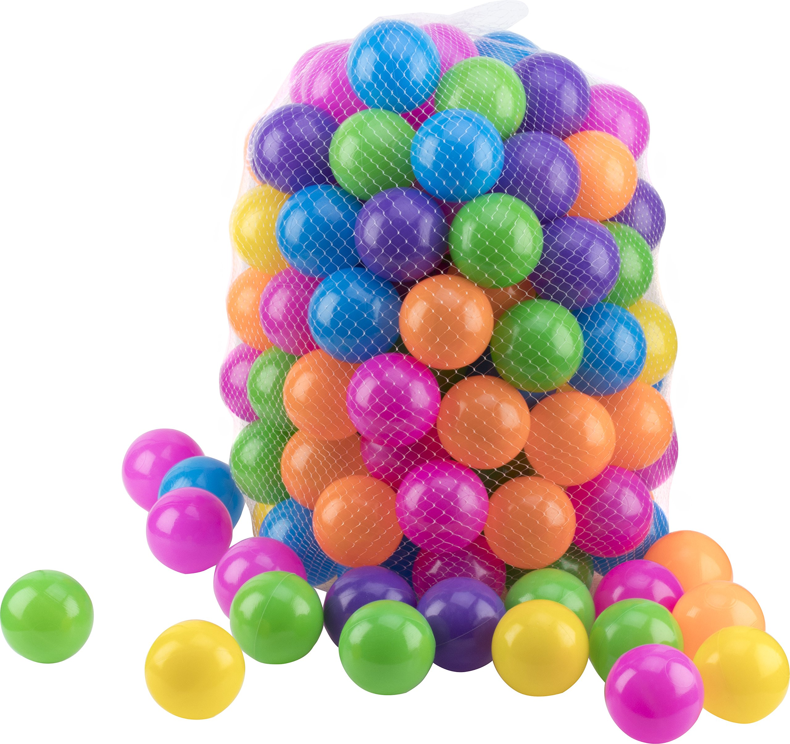 Play22 Ball Pit 200 Pack - Ball Pit Balls Crush Proof BPA Free - Includes Reusable Zipper Mesh Bag - Colorful Fun Plastic Balls - Ball Pit for Kids and Baby - Ball Pit for Any Ball Pool - Original by Play22 (Image #6)