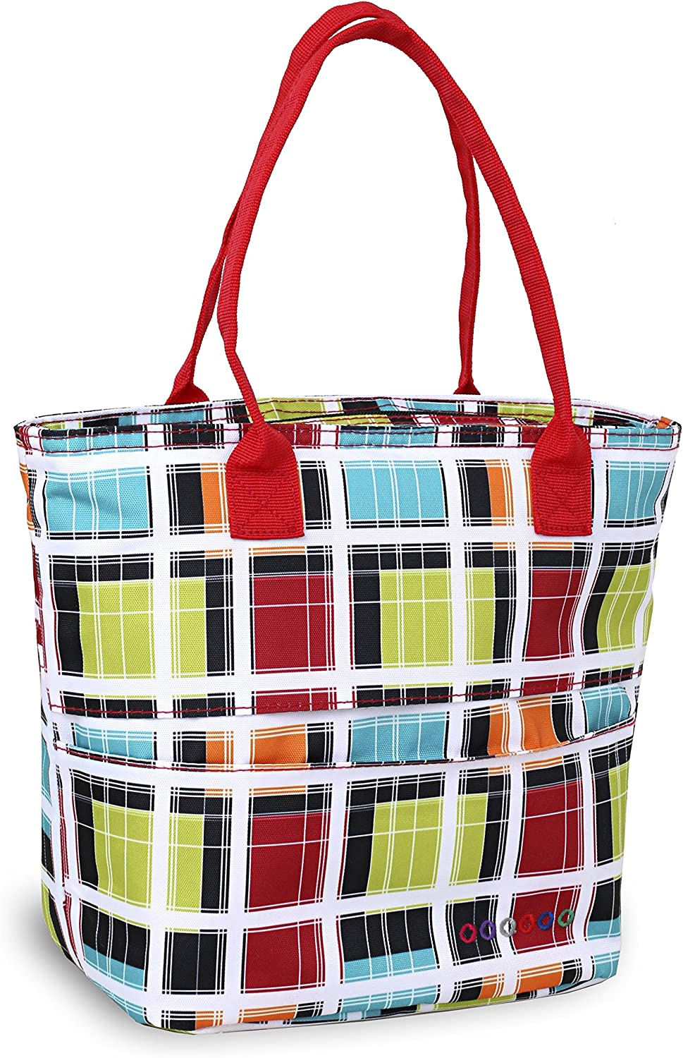 J World New York Lola Tote Bag Insulated Lunch-Box, Colorstrip, One Size