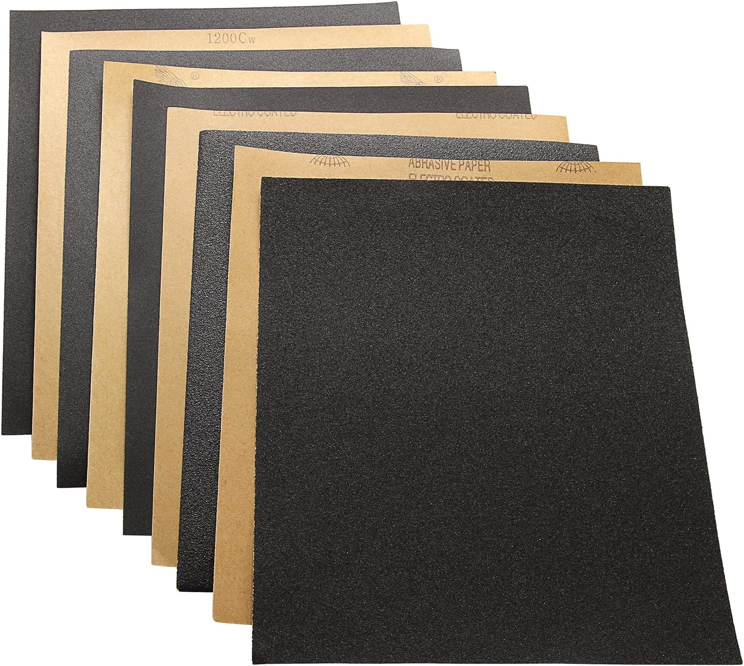 Wet or Dry Sanding Metal Sanding and Automotive Polishing 9 x 11 Inch 60 To 2000 Assorted Grit Sandpaper for Wood Furniture Finishing 34 Sheet