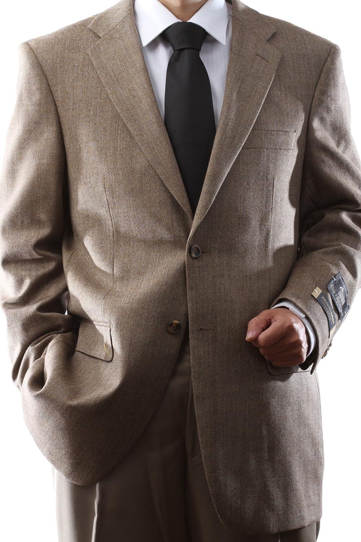 Prontomoda Mens 2 Button Luxury Wool Toast Color Sport Coat