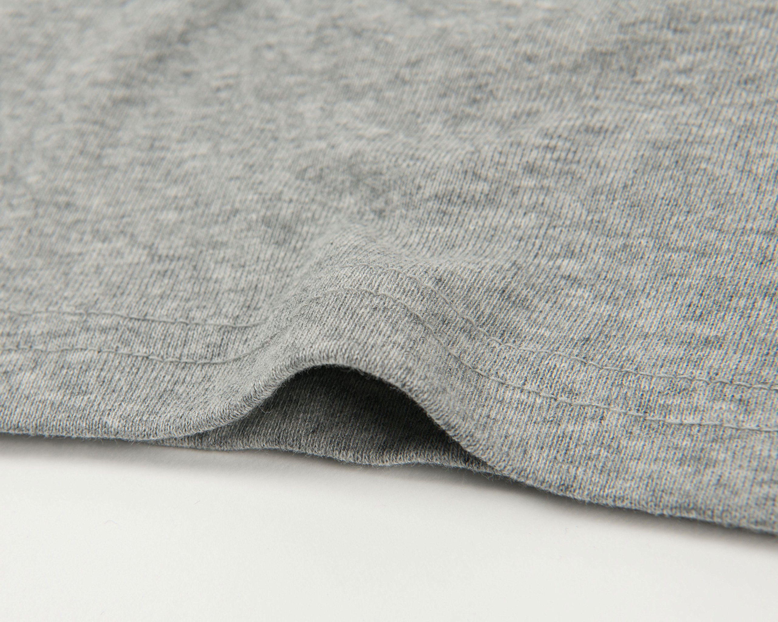 Leveret Solid Turtleneck 100% Cotton (8 Years, Light Grey) by Leveret (Image #6)