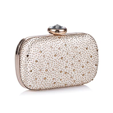 5e3eab1d68c Image Unavailable. Image not available for. Color  Chichitop Women s  Elegant Crystal Evening Clutch Wedding Party Handbag Bridal Purse ...