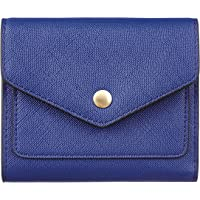Gostwo Genuine Leather Small Wallet for Women, RFID Blocking Women's Credit Card Holder Mini Bifold Pocket Purse(CH Blue…