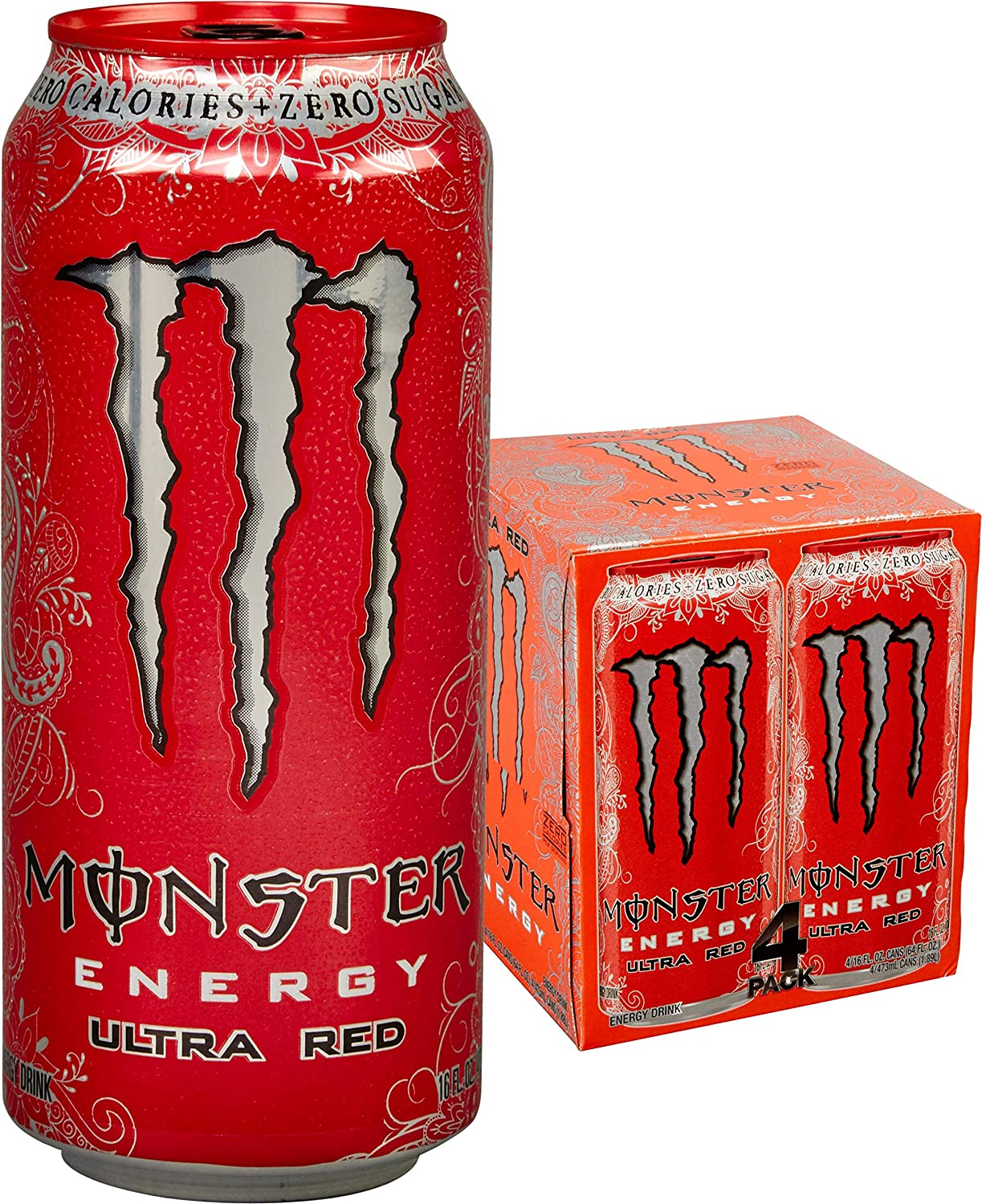 Amazon Com Monster Energy Ultra Red 16 Fl Oz 4 Pack Grocery Gourmet Food