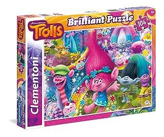 Clementoni 20144 - Puzzle 104 Brilliant Trolls