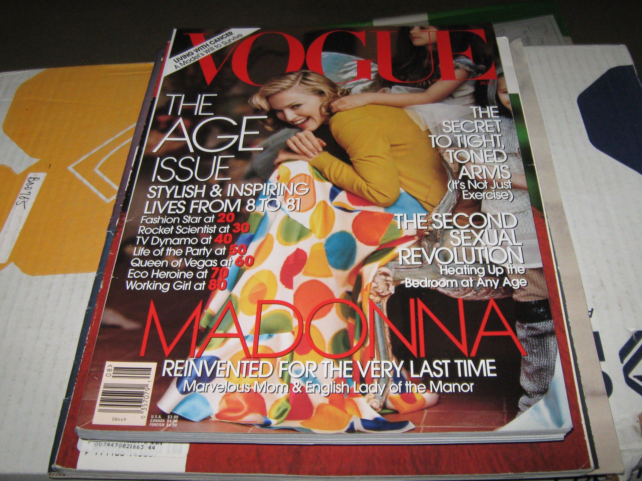Vogue August 12 Madonna; The Age Issue Steven Meisel, Tim ...