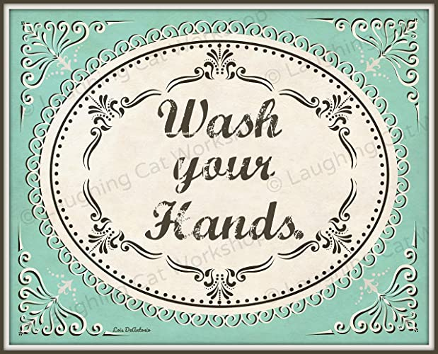 Amazon Com Wash Your Hands Art Print French Bathroom Art Print