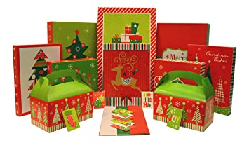 Amazon.com: Christmas Gift Box Set - Kit Contains Gift Boxes, Gift ...