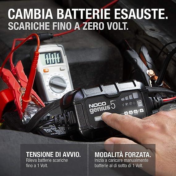 Smart Automatico da 2 Amp Caricabatterie da 6V e 12V mantenitore di Carica e desolfatore di batterie con compensazione della Temperatura NOCO GENIUS2EU