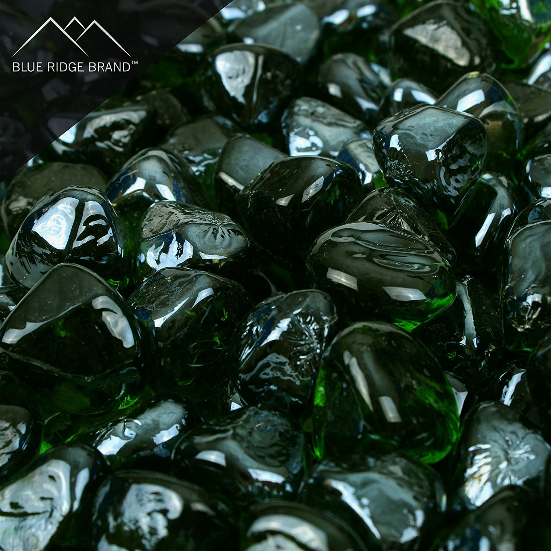 Blue Ridge Brand&Trade; Amber Reflective Fire Glass Diamonds - 3-Ounce Sample Professional Grade Fire Pit Glass - 1 Reflective Glass for Fire Pit and Landscaping