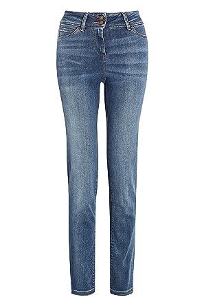 next Damen Luxe Sculpt Slim Fit Jeans – Kurzgröße Mittelwäsche EU 36 (UK 8) 81a3c99d12