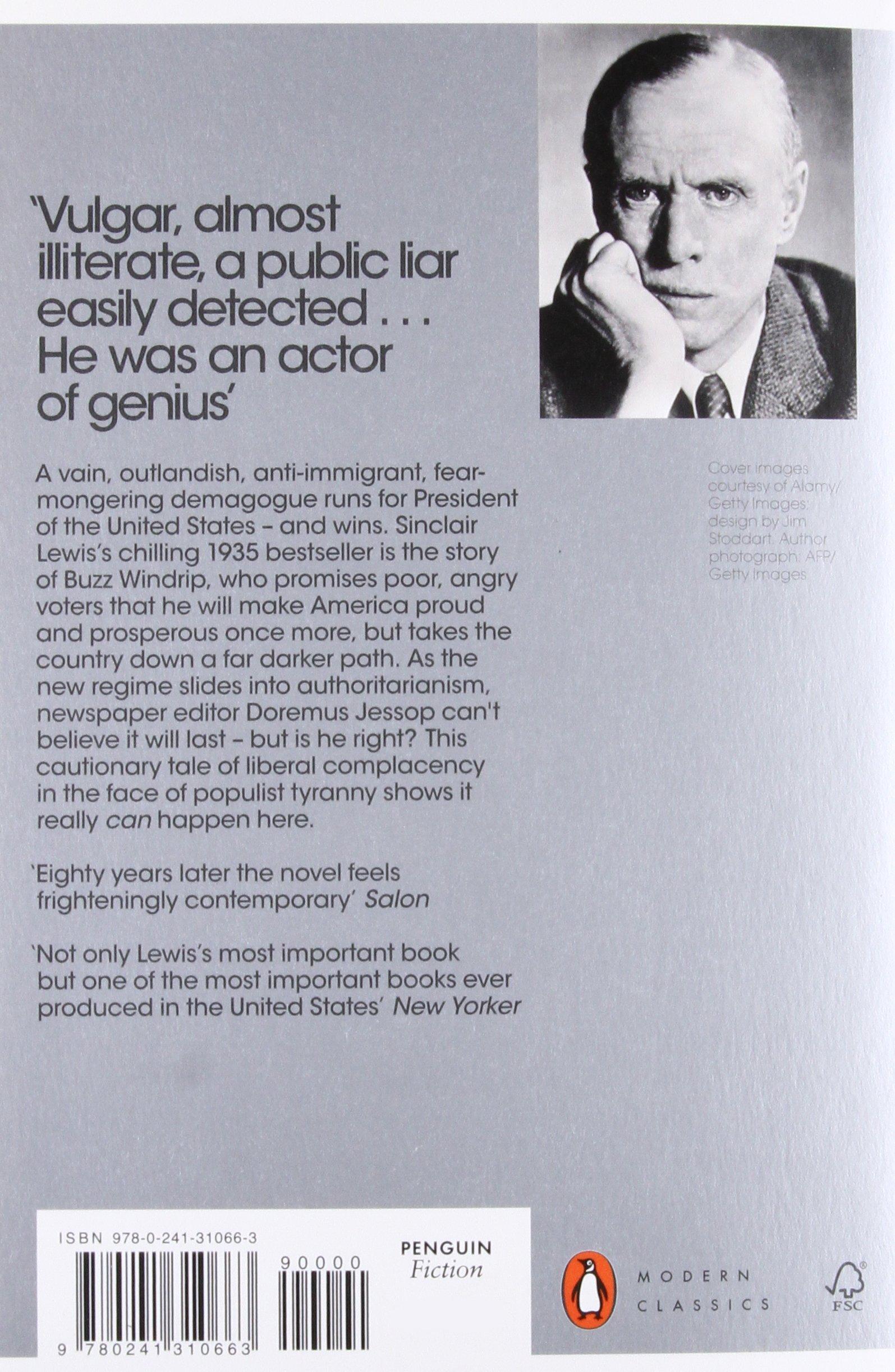 It Can't Happen Here (Penguin Modern Classics): Amazon.co.uk: Sinclair  Lewis: 9780241310663: Books