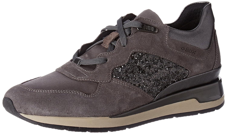 Geox D Shahira B Damen Sneaker Grau (Dk Grau/Anthracite)