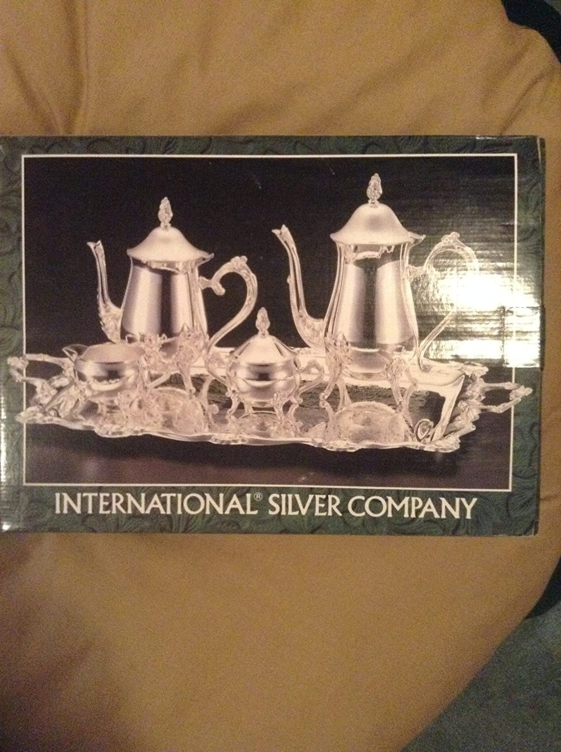 Silver plateed 5 piece coffee/ tea set International Silver Company