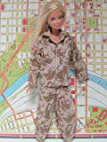 Barbie Doll Clothes: Camouflage Outfit Fits 11.5 Inch Barbie Dolls (No Dolls)