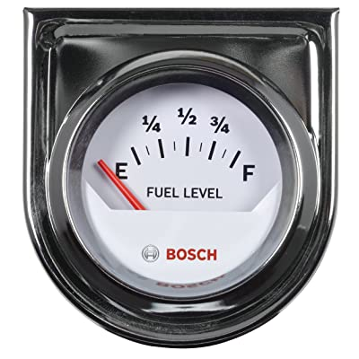 "Bosch SP0F000048 Style Line 2"" Electrical Fuel Level Gauge (White Dial Face, Chrome Bezel): Automotive"