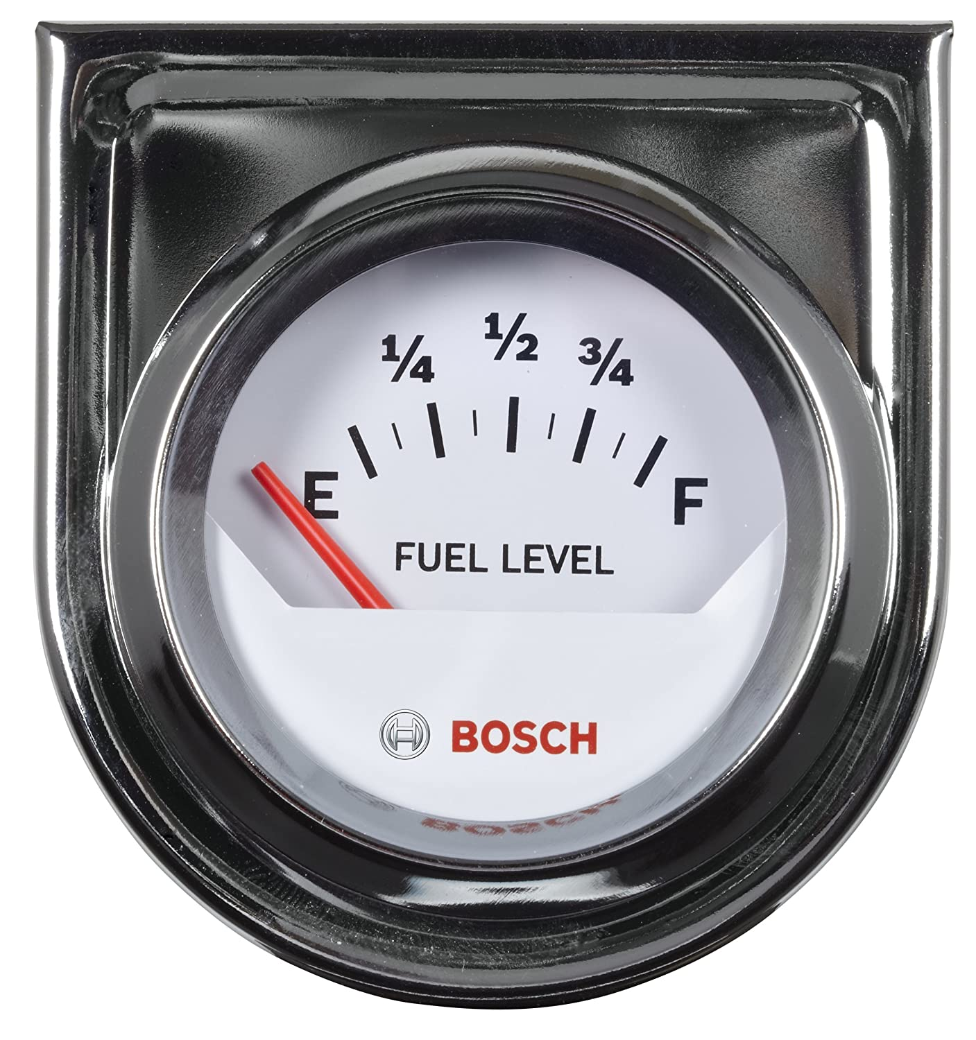 Bosch Sp0f000048 Style Line 2 Electrical Fuel Level Tachometer Wiring Gauge White Dial Face Chrome Bezel Automotive