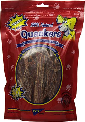 Pet Center Dpc33248 Natural Quakers Duck Breast Dog Treat, 8-Ounce