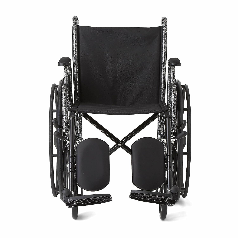 Medline - Silla de ruedas con brazos de escritorio extraíbles y reposapiés elevable, asiento de 45,7 cm: Amazon.es: Industria, empresas y ciencia