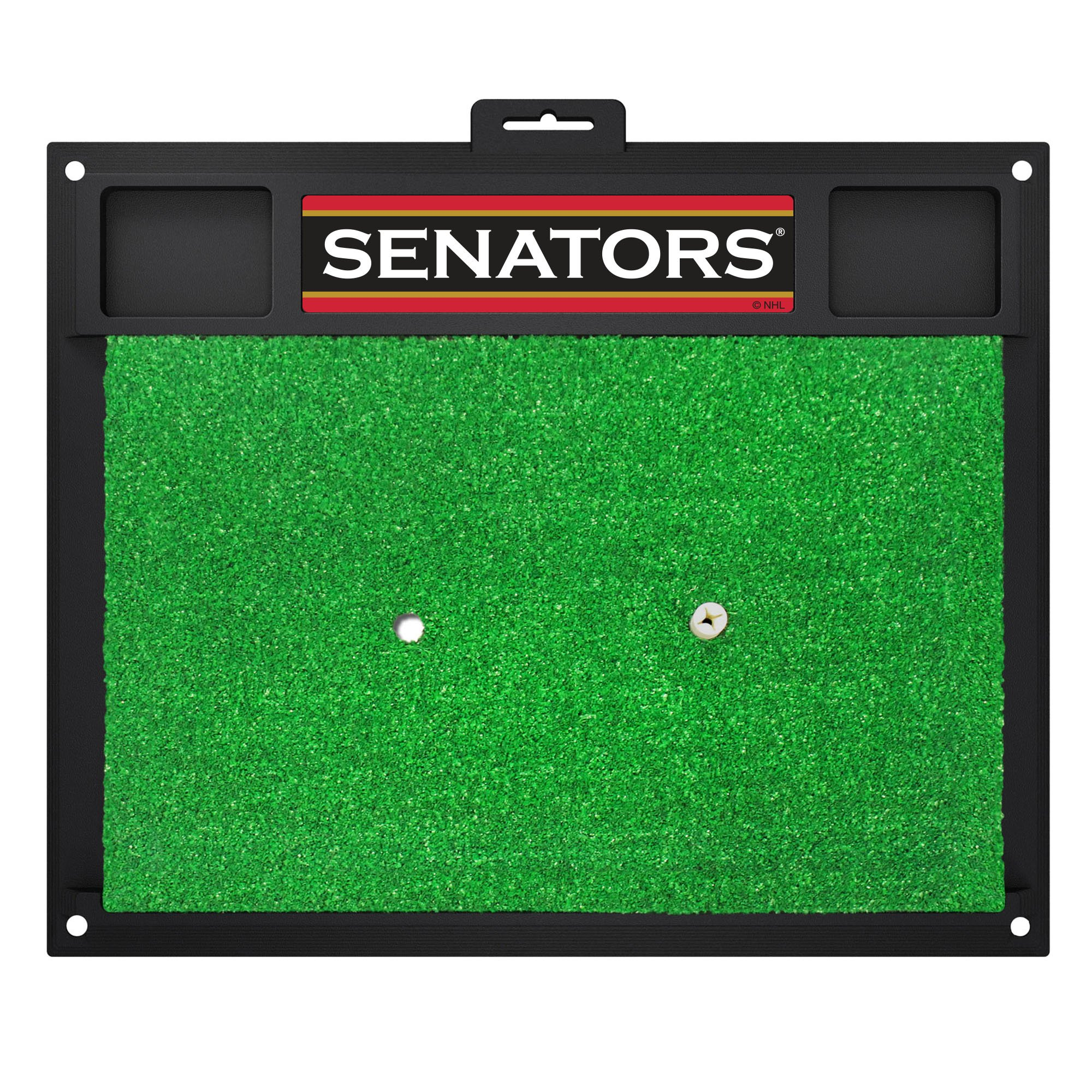 Fanmats 17046 Team Color 20'' x 17'' NHL - Ottawa Senators Golf Hitting Mat