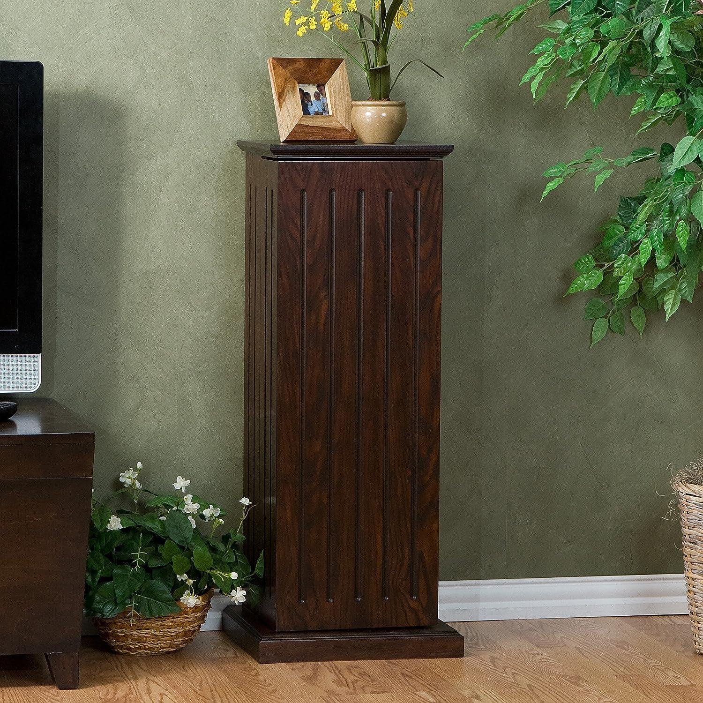 & Amazon.com: SEI Black Media Storage Pedestal Espresso: Kitchen u0026 Dining