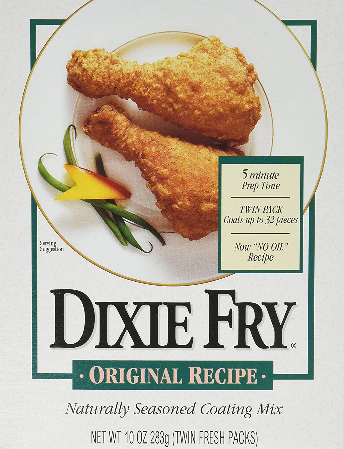 Dixie Fry 10-Ounce Original Recipe Coating Mix for Fried Chicken, Pork Chops, & Seafood (Pack of 6)