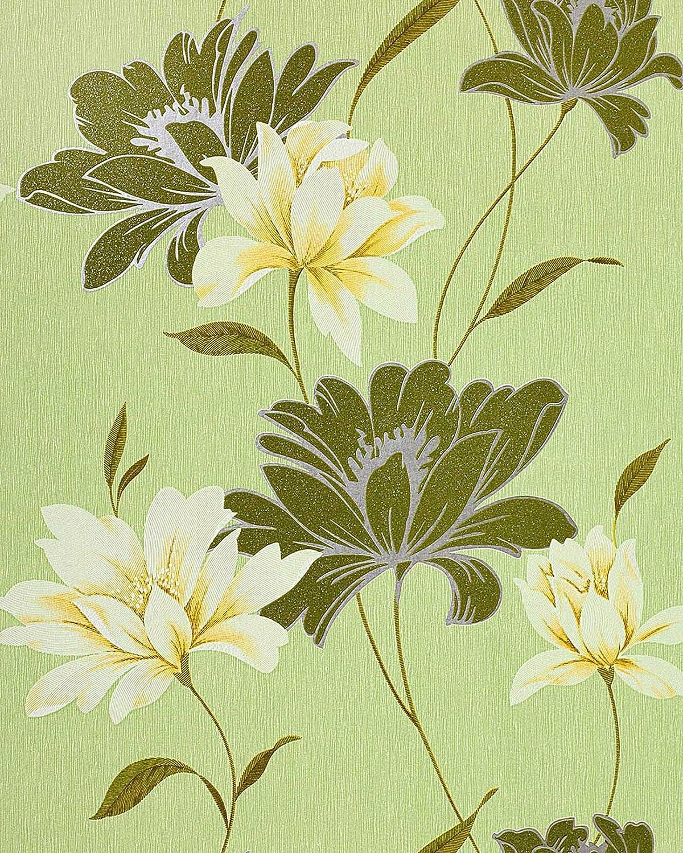 Vinyl Wallpaper Wall Floral Edem 168 35 Flowers Textured Wallpaper