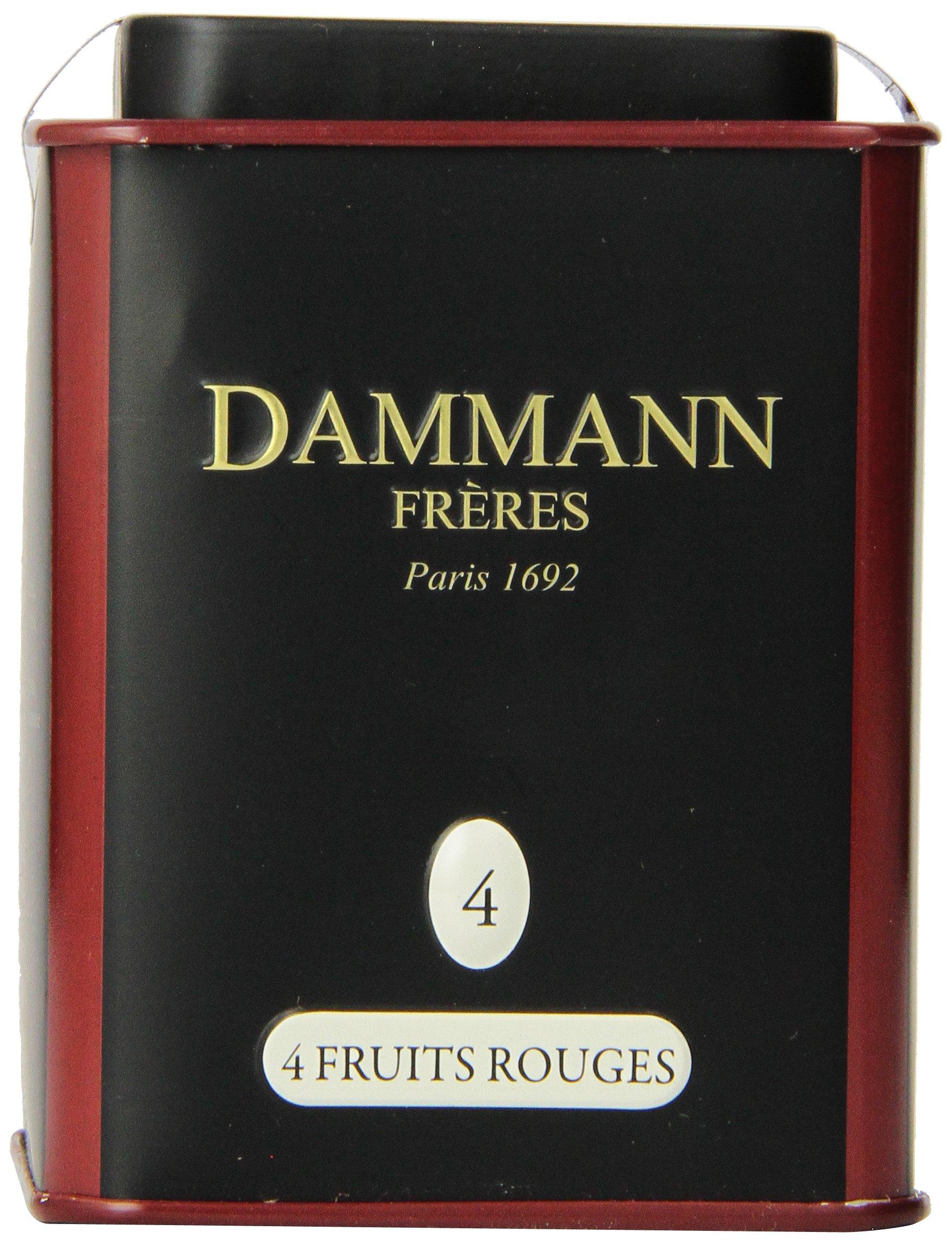 DAMMANN FRERES Quatre Fruits Rouges Loose Tea, 3.5 Ounce Tin