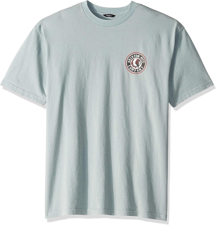 BRIXTON Rival II S/S Standard tee Camiseta, Piedra Azul, Medium para Hombre: Amazon.es: Ropa y accesorios