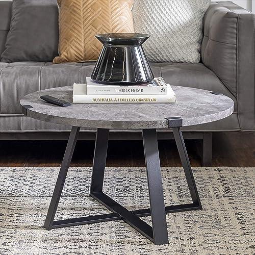 Best living room table: Walker Edison Anastasia Modern Metal Wrap X Base Coffee Table