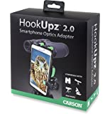 Carson HookUpz 2.0 Universal Smartphone Optics Digiscoping Adapter for Binoculars, Spotting Scopes, Telescopes, Microscopes, Monoculars and More (IS-200), Black