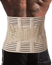 UFEELGOOD Lower Back Brace Lumbar Support Belt - Pain Relief and Correct Posture - X-Small Beige