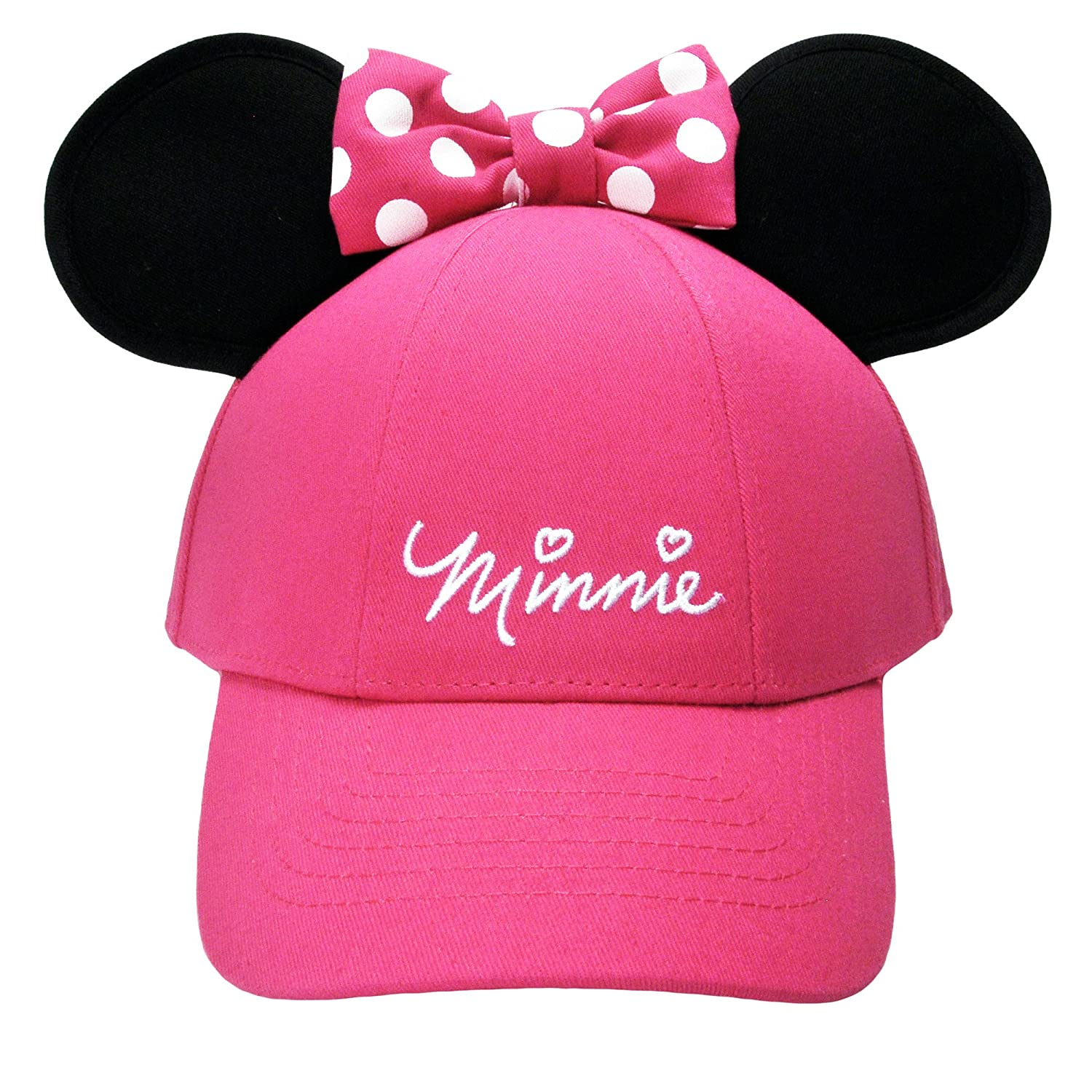 Disney Youth Hat Kids Cap with Mickey or Minnie Mouse Ears Minnie Pink