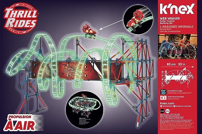 Amazon.com: K'NEX Thrill Rides – Web Weaver Roller Coaster ...