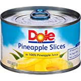 Dole Pineapple Slices in 100% Juice, 8 Ounce Cans (Pack of 12)