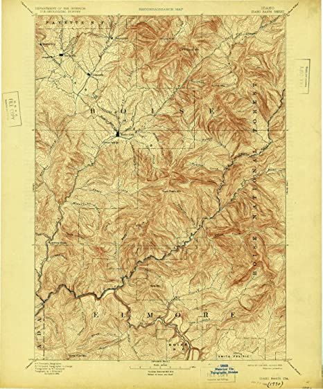 Amazon.com: YellowMaps Idaho Basin ID topo map, 1:125000 ...