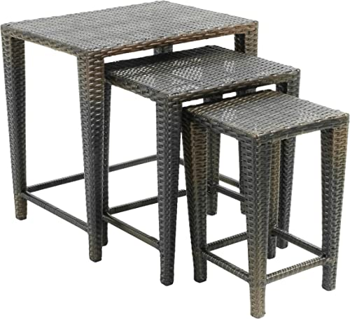 Christopher Knight Home CKH Outdoor Wicker Nested Tables
