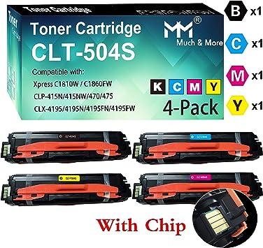 4 x Toner Chip for Samsung Xpress C1810W CLT-K504S CLT-C504S CLT-M504S CLT-Y504S