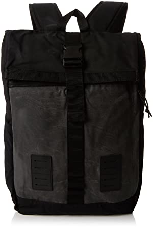 Vans Plot Roll Top Backpack Mochila Tipo Casual, 51 cm, 24 Liters, Negro (Asphalt/Black): Amazon.es: Equipaje