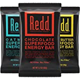 Redd Gluten Free Vegan Superfood Energy Bar Variety Pack, 18 Bars