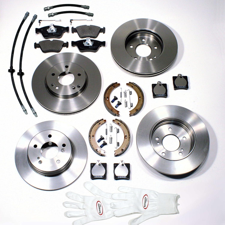 Autoparts-Online Set 60004308 Bremsscheiben Kit Hinten Bremsschl/äuche Vorne