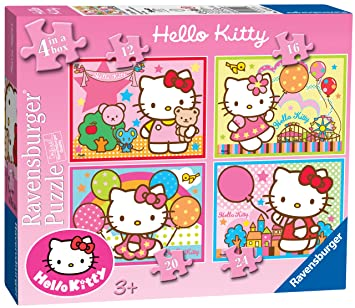 b3b871c61 Ravensburger Hello Kitty (4 in a box): Amazon.co.uk: Toys & Games