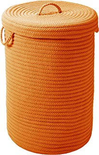 """product image for Simply Home Hamper w/lid - Rust 18""""x18""""x30"""""""