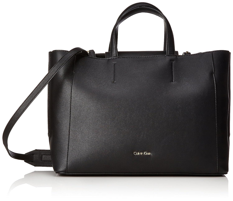 (Black (Dark Shadow)) - Calvin Klein Women's Metropolitan Tote Tote B075BJ13C5