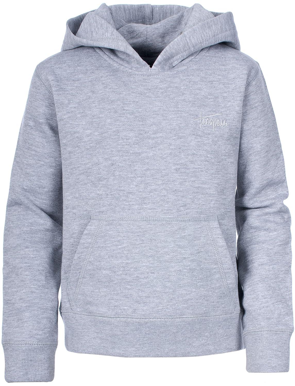Trespass Whelan - Sudadera, color gris claro, talla UK: Talla 2/3 MCTOSWI10001_GRM2/3