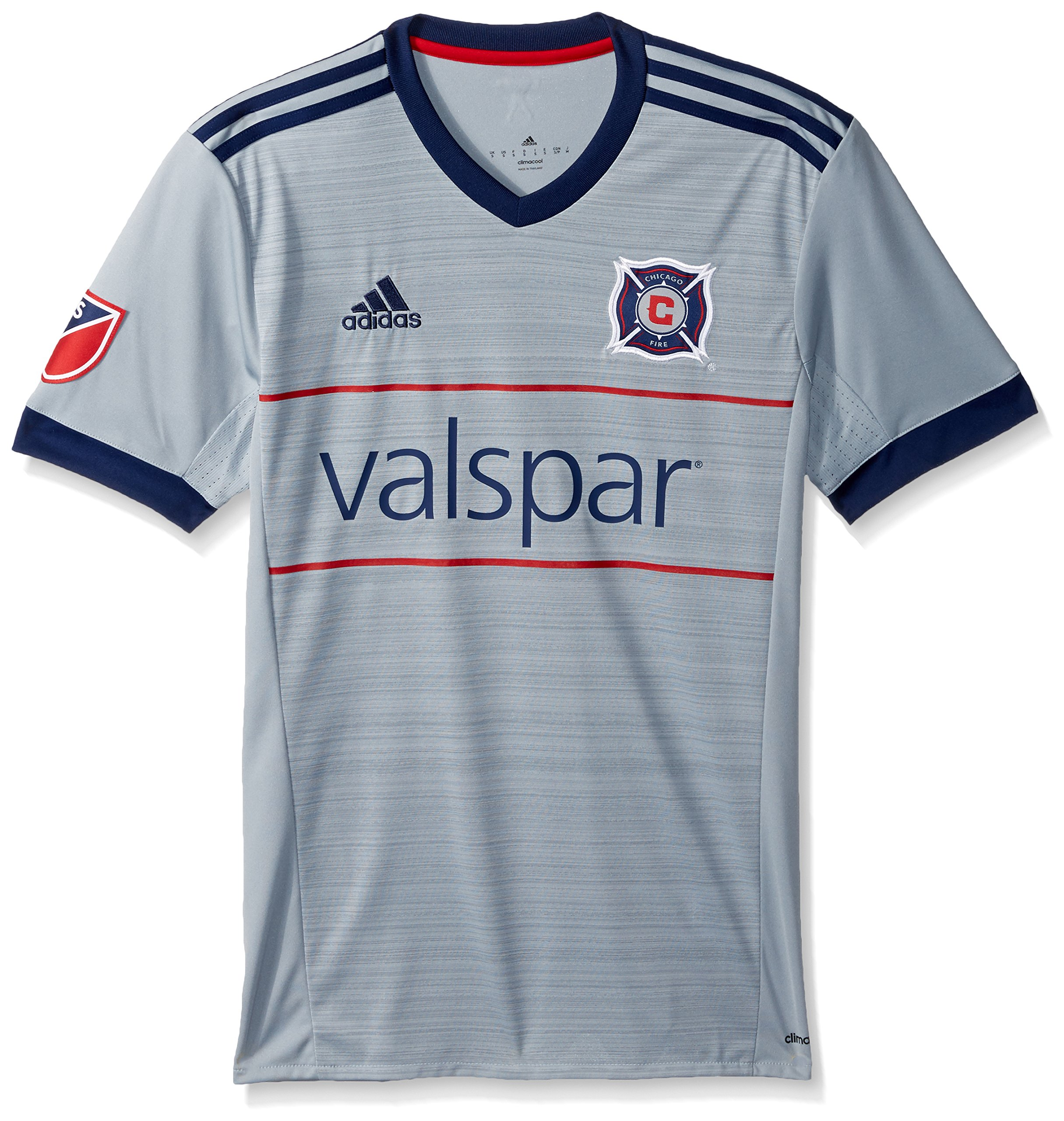 MLS Chicago Fire Adult Men Replica Wordmark s/jersey,Large,Blue