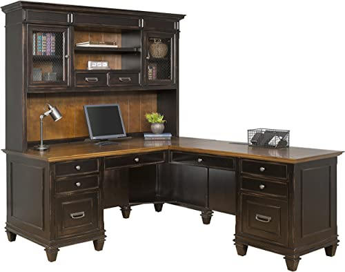 Martin Furniture Hartford Hutch, Brown – Fully Assembled