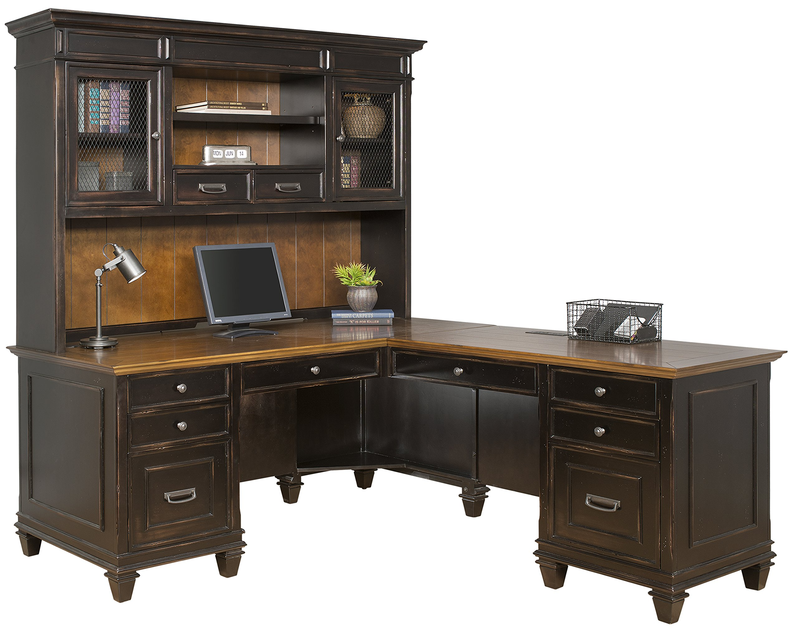 Martin Furniture Hartford Hutch, Brown - Fully Assembled by Martin Furniture (Image #3)