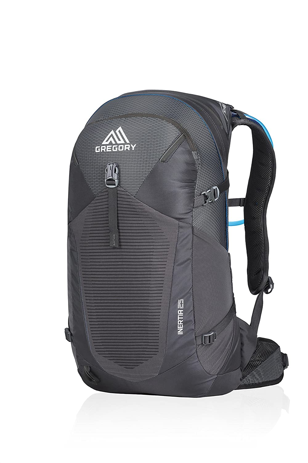 Shadow Black One Size Gregory Mountain Products Men's Inertia 25 Liter Day Hiking Backpack   Day Hikes, Walking, Travel   Hydration Bladder Included, Padded Adjustable Straps, Quick Access Pockets